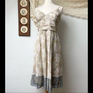Max & Cleo • Silk Floral Midi Dress